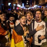 And even in Zurich, fans of the German team sang in celebration after the final whistle.Photo: DPA