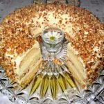 <b>Frankfurter Kranz:</b> A firm spongecake, layers of butter cream, all topped with a generous sprinkling of candied nuts called <i>Krokant</i>. It may not be as well known as Black Forest Cake, but this specialty of Frankfurt deserves to be just as famous.  Photo: Wikimedia Commons
