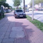 This driver has gone out of his way to park on the bike lane.Photo: thingsonbikelanes/tumblr