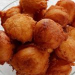 <b>Quarkbällchen:</b> Though some might say this is a Christmas treat, we'd argue that the increasing availability of these fried balls of Quark dough year around makes them a year-round delight. So take a greasy bag on your next beach trip. Photo: Franz Walter/flickr