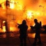 Fire-fighters try to control the flamesPhoto: Berliner Feuerwehr