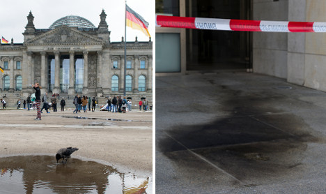 Attacker throws Molotov cocktail at Reichstag