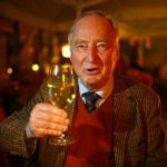 Alexander Gauland, AfD's leading candidate, celebrates with glass in hand at an election party in Brandenburg.Photo: DPA