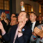 Lucke watches the results roll in.Photo: DPA