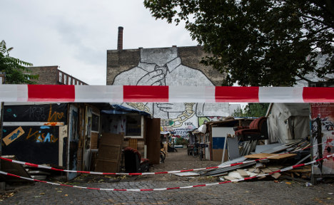 Berlin squat ripped apart by fire