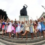 Most dirndls presented before this year's Oktoberfest are less garish and have a simpler design.Photo: DPA
