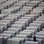 """<b>Memorials:</b> The sombre rows of blocks commemorating the <a href=""""http://www.stiftung-denkmal.de/"""">murdered Jews of Europe</a>, designed by American architect Peter Eisenman, can be found next to the Brandenburg Gate. Beneath them is an exhibition centre and not far away in the Tiergarten are smaller memorials to the murdered Roma and Sinti, to homosexuals and to the victims of Nazi euthanasia.Photo: Marko Priske/Stiftung Denkmal für den ermordeten Juden Europas"""