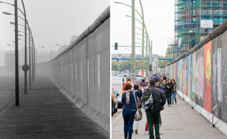 See how Berlin has changed since Wall fell