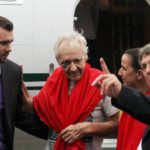 Freed hostages back at German embassy