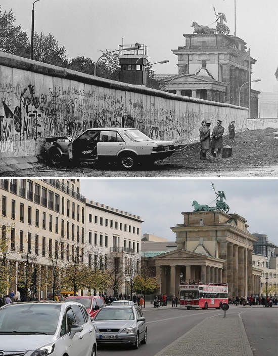 The Berlin Wall: Photos of then and now