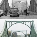 West Berlin police in 1988 at the <i>Glienicker Brücke</i> which crossed from West Berlin into the GDR at Potsdam.Photo: dpa-Archiv/Lukas Schulze