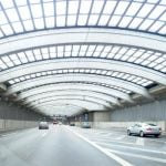 Noise reduction tunnel in Cologne: €200m was the price tag for the glass-roofed tunnel over the A1. It turned out to be little more effective than a wall and a speed limit would have been, and the North Rhine-Westphalia state government says it wouldn't repeat the experiment.Photo: DPA