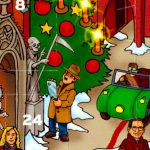<b>24 days of murder:</b> Alright, technically, this one is filled with chocolate, but the city of Hanover releases its own Advent calendar every year featuring an idyllic city picture, with one sinister detail: It features a serial killer lurking admid the festive scene.  Photo: DPA