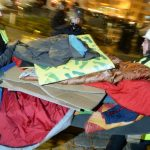 Police clear the encampment. The hunger strikers took to the trees after a dozens of officers cleared out Sendlinger Tor in Munich following concerns the refugees could get hypothermia in dropping temperatures.Photo: DPA
