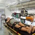 Plastic chambers isolate patients who are to fly on board the Robert Koch plane. Photo: DPA