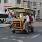 <b>Beer bikes:</b> This option takes the previous item and combines it with alcohol and friends – or at the very least, tourists.  Pedal around the city, drink beer and stagger off once you've reached your destination. Ignore all the headshaking from pedestrians, they just wish they were as creative as you in dealing with the strike.Photo: DPA