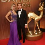Formula One driver Nico Rosberg, pictured with wife Vivian Sibold, was recognized for his achievements in his sport. Photo: DPA
