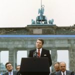 """""""Mister Gorbachev, tear down this wall!"""" - US President Ronald Reagan in a speech at the Brandenburg Gate  on June 12, 1987. Photo: DPA"""