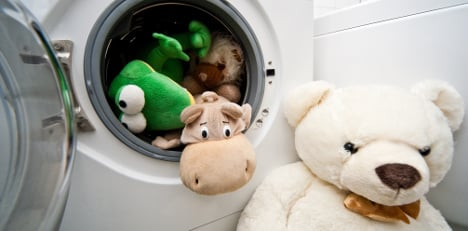 Firefighters free child from washing machine