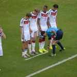 """<b>Freistoß Spray</b>: Making its World Cup debut this year was the vanishing spray: a dissolvable foam used in football play. <a href=""""http://www.thelocal.de/20140926/germans-ban-football-vanishing-spray"""">The German football league declared the substance """"too dangerous for Germany""""</a> after debating its use in local play. Photo: DPA"""