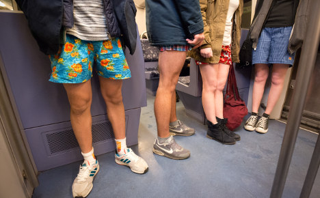 Germans strip off for 'No Pants Subway Ride'