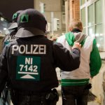 Hanover was one of the few cities to see arrests during pro- and anti-Pegida demonstrations on Monday night, with police reporting eight people taken into custody.Photo: DPA