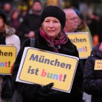 """About 20,000 marched in Munich under the slogan """"Munich is colourful"""" against a few hundred 'Bagida' supporters.Photo: DPA"""