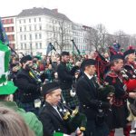 """Pipers from the <a href=""""http://www.blackkilts.de/"""">Berlin Pipes and Drums</a> Company led the parade through the city district of Kreuzberg.Photo: Emma Anderson, The Local"""