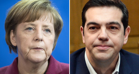 'Two worlds collide' as Tsipras visits Merkel