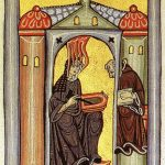 """<b>Saint Hildegard of Bingen</b> – the definition of a polymath, Hildegard was a writer, composer, philosopher, mystic, abbess and visionary. She was born near Koblenz around 1098 and experienced visions from a very young age, which led her parents to give her up to the church when she was just eight. She went on to found two monasteries, write three books of theology and two on medicine and invent her own language, while finding time to write hundreds of letters to the great and good of Europe.Photo: <a href=""""http://bit.ly/1ETD8Yb"""">Wikimedia Commons</a>"""