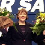 April 10th 2000 – Angela Merkel was elected as the first female leader of the CDU. She replaced Wolfgang Schäuble (now her Finance Minister) after he was embroiled in a party funding scandal along with Helmut Kohl.Photo: DPA