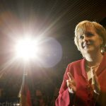 """September 18th 2005 - Merkel won the election by a very slim margin but could not form a majority government with her preferred coalition partners, the liberal Free Democratic Party (FDP). Instead, she put together a """"Grand Coalition"""" with the Social Democratic Party (SPD). Merkel became Chancellor and in return the SPD got 8 of the 16 cabinet seats. Photo: DPA"""