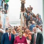 """2014 - Merkel presided over the 25th anniversary of the fall of the Berlin Wall in November amid impressive celebrations in Berlin. She played a key role in the setting up the """"Normandy Format"""", a diplomatic group consisting of senior representatives from Germany, Russia, Ukraine and France to resolve the situation in the East of Ukraine.Photo: DPA"""