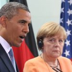 October 2013 – After establishing a healthy relationship with Barack Obama since he became president in 2008, US-German relations were thrown into doubt when documents leaked by Edward Snowden revealed that Merkel's phone had been tapped by the NSA.Photo: DPA