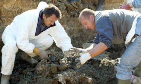 German WWII remains exhumed in Bosnia