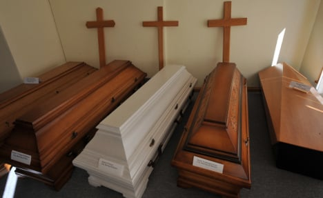 Corpse-filled coffins found in old supermarket