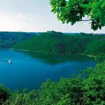 <b>Edersee.</b> Located in Hesse, the lake is not only a beautiful place to go for a swim, it also offers great nature trails and boat rides.Photo: DPA