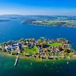 """<b>Chiemsee.</b> This freshwater lake in Bavaria was formed 10,000 years ago by a glacier. It contains three islands, like Frauninsel pictured here.Photo: <a href=""""http://bit.ly/1J4GOrH"""">Anna</a> / Flickr Creative Commons."""