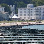 """<b>Heiligendamm.</b> Known as the """"White Pearl"""" or the """"White Town by the Sea"""" for its white buildings lining the sand, this coastal resort in Bad Doberan, Mecklenburg-Vorpommern is the oldest seaside spa in continental Europe.Photo: DPA"""