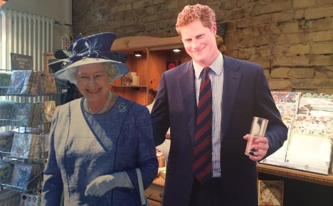 British shop booms on eve of Queen's visit