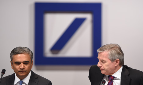 Deutsche Bank says co-CEOs are resigning