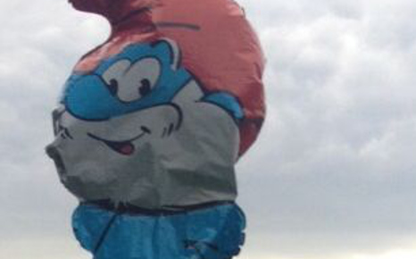 Police send helicopter to rescue Papa Smurf