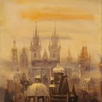 This 'Prague in the fog' is being sold alongside a paperweight from Hitler's office and a guest book with signatures including that of Hermann Göring.Photo: Auktionshaus Weidler