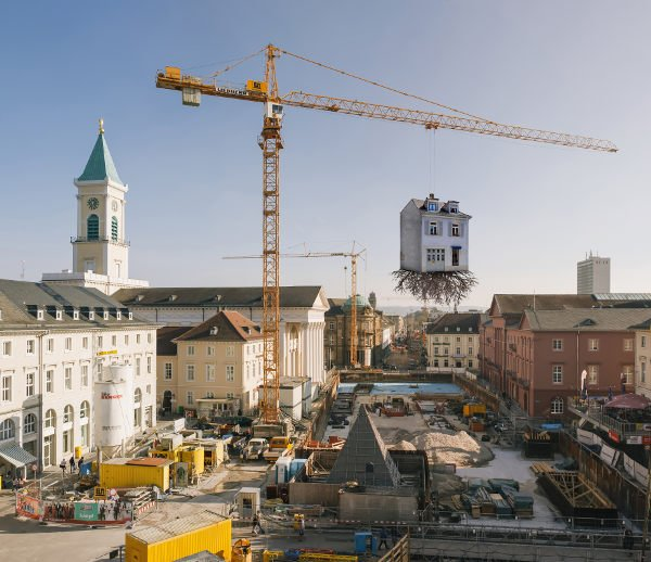 Karlsruhe turned into warped construction site