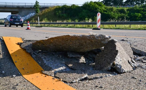 Extreme heat causes Autobahn to rupture