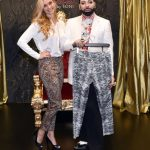 Celebrity designer Harald Glööckler presents his new women's trousers collection 'Glööcker relaxed by Toni.'Photo: DPA