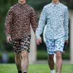 While the GDR shirts are important to the look. It's the grass covered legs that make it. This is from Julian Zigerli.Photo: DPA