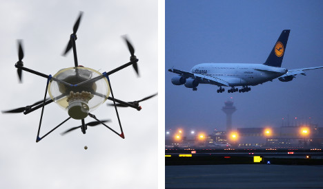 Drone nearly crashes into plane on landing