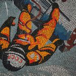"""A monument to the glory of the Eastern Bloc space programme, this <a href=""""http://digitalcosmonaut.com/2013/year-of-film-february-giveaway/cosmonaut-mosaic-potsdam/"""">mural mosaic</a> still stands hidden away in Potsdam as a reminder of a vanished world.Photo: <a href=""""http://www.digitalcosmonaut.com"""">Digital Cosmonaut</a>"""