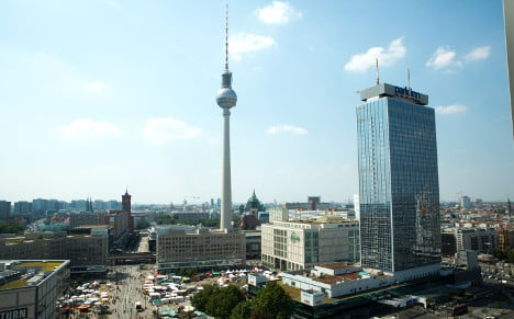When the first stone was laid: Berlin TV tower